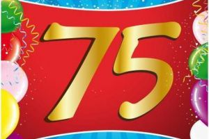 Er is er één jarig.... 75 jaar !